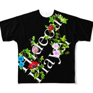 映えT-草と花 Full graphic T-shirts