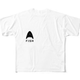 イケイケフィッシュグッズ Full graphic T-shirts