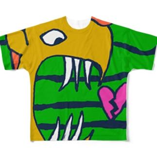 ハートフル魚2 Full graphic T-shirts