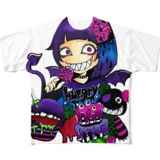 hungry  girl Full graphic T-shirts