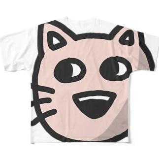 ねこ太 Full graphic T-shirts