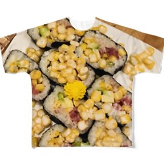 コーンすし Full graphic T-shirts