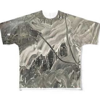 灰 Full graphic T-shirts