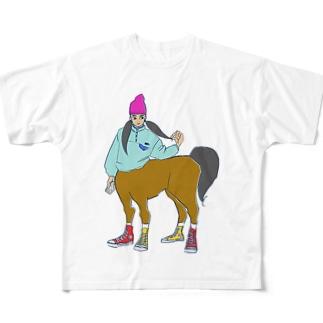 ツインテール子 Full graphic T-shirts