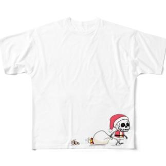 クリスマスのホネホネくん Full graphic T-shirts
