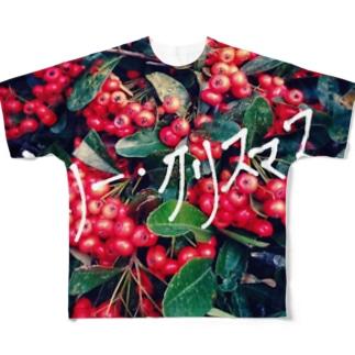 メリー・クリスマス Full graphic T-shirts