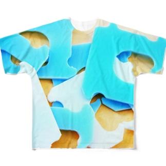 パンの袋とめるやつの集合場所 Full graphic T-shirts