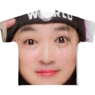 プリクラ風おじさん Full graphic T-shirts