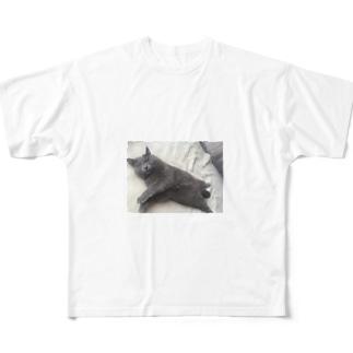 股間隠し Full graphic T-shirts