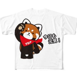 YSパンダ・今日も元気 Full graphic T-shirts