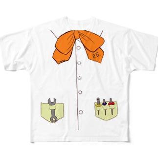 ハカセなてぃ〜しゃつ Full graphic T-shirts