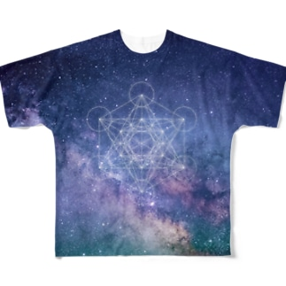 宇宙TEE001(神聖幾何学) Full graphic T-shirts