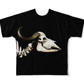 スカルTEE 01 Full graphic T-shirts