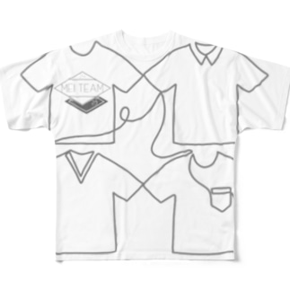 ひとふで フルグラフィックTシャツ