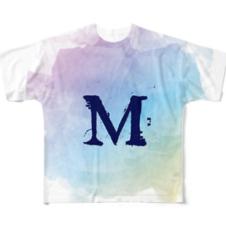 M×水溜 Full graphic T-shirts