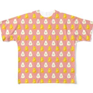 ラ・フランスがいっぱい フルグラフィックTシャツ