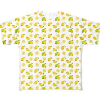 レモンがいっぱい Full graphic T-shirts
