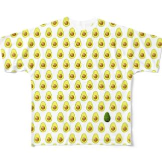 アボカドがいっぱい フルグラフィックTシャツ