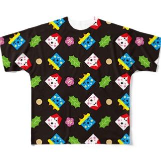 SETSUBUN(ブラック) フルグラフィックTシャツ