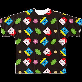 YASUKOのSETSUBUN(ブラック) Full graphic T-shirts
