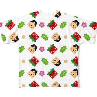 SETSUBUN(ホワイト) Full graphic T-shirts