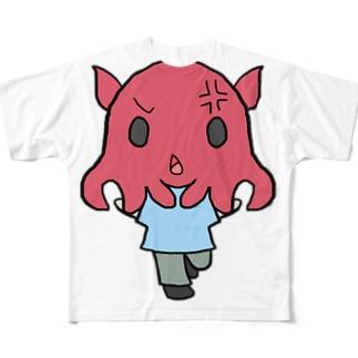 おこりメンダコ Full graphic T-shirts