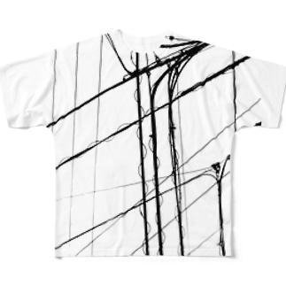 電線1 フルグラフィックTシャツ
