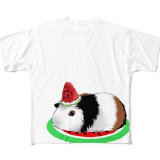 背景透過 モル柄 フルグラフィックTシャツ