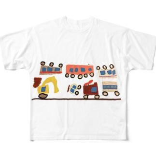 はたらくくるま フルグラフィックTシャツ