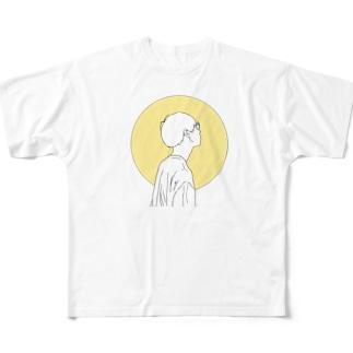 横顔 Full graphic T-shirts