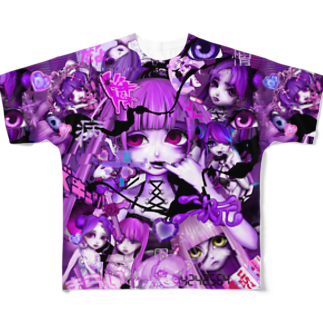 MEAの総柄 Full graphic T-shirts