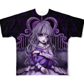 おやすみちゃん Full graphic T-shirts