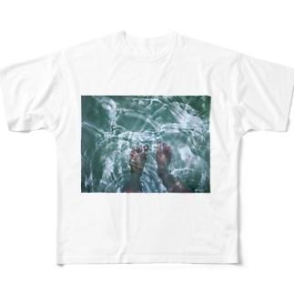 揺らぎと裸足 Full graphic T-shirts