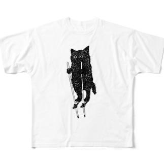 竹馬猫 Full graphic T-shirts