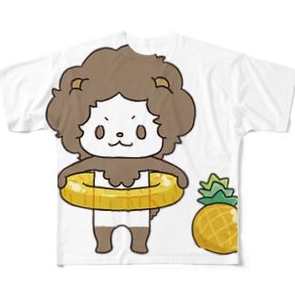 パイナップルコーデ Full graphic T-shirts