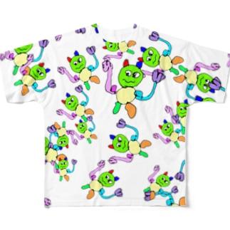 オーバーサイズ ゴリラ総柄 Full graphic T-shirts