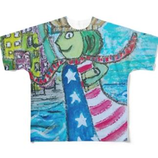 Enjoyする自由の女神 Full graphic T-shirts