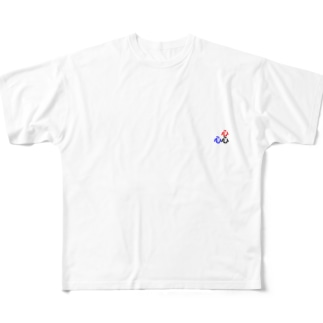 三角関係 Full graphic T-shirts