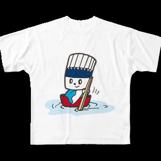 そうめん侍のそうめん侍「どんぶらこっこ」フルグラフィックTシャツ