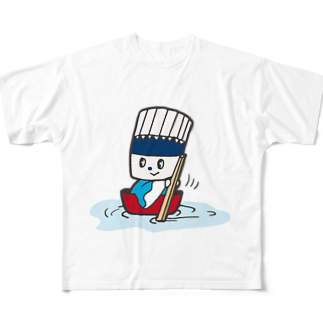 そうめん侍のそうめん侍「どんぶらこっこ」 Full graphic T-shirts