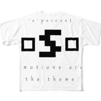 ロゴ Full graphic T-shirts