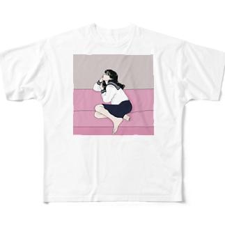制服のイケてる彼女 Full graphic T-shirts