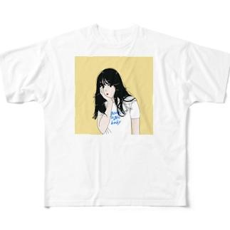 90年代のイケてる彼女 Full graphic T-shirts