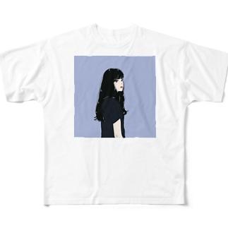 黒髪のイケてる彼女 Full graphic T-shirts