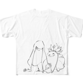あかりすん×脇息Tシャツ Full graphic T-shirts