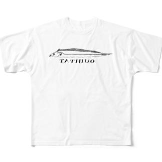 どうも、太刀魚さん Full graphic T-shirts