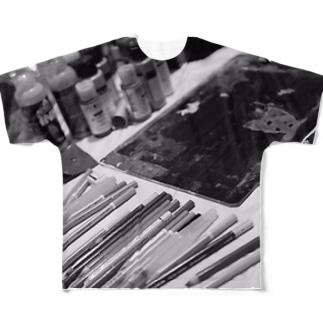 ライブペイント 画材 Full graphic T-shirts