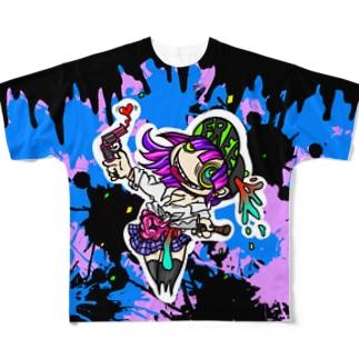 地獄への道は容易い Full graphic T-shirts