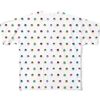 みきひとくんTシャツ(みずたま表裏) Full graphic T-shirts