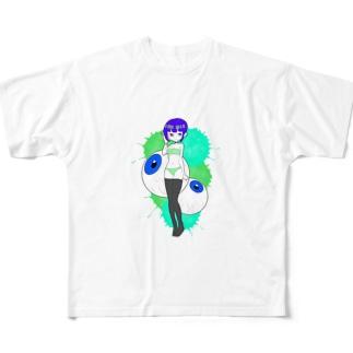 目玉ちゃん Full graphic T-shirts